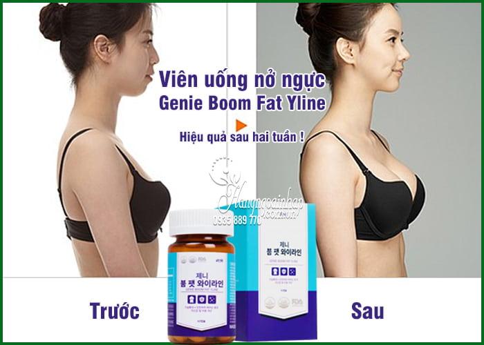 Viên uống nở ngực Genie Boom Fat Yline 60 viên Hàn Quốc 7