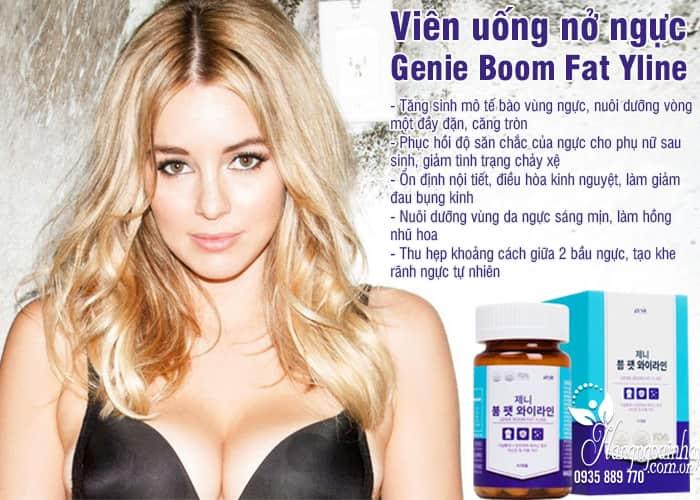 Viên uống nở ngực Genie Boom Fat Yline 60 viên Hàn Quốc 4