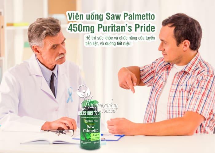 Viên uống Saw Palmetto 450mg Puritan's Pride 100 viên Mỹ 1