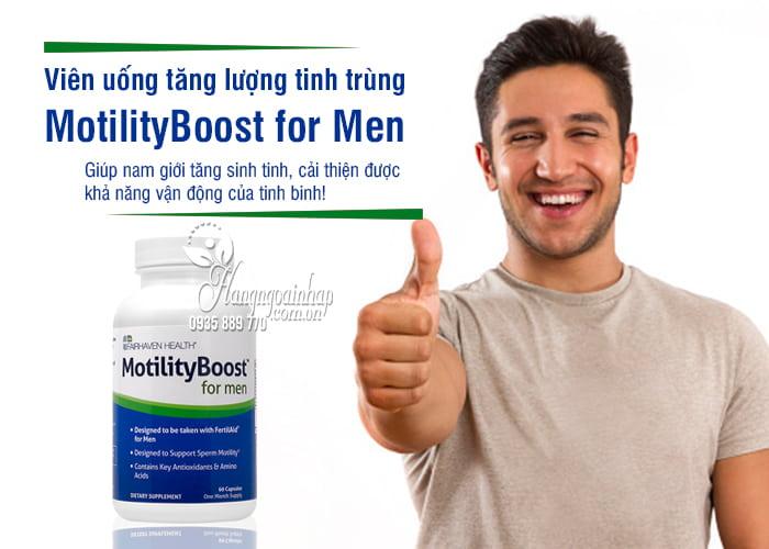 Viên uống tăng lượng tinh trùng MotilityBoost for Men của Mỹ 4