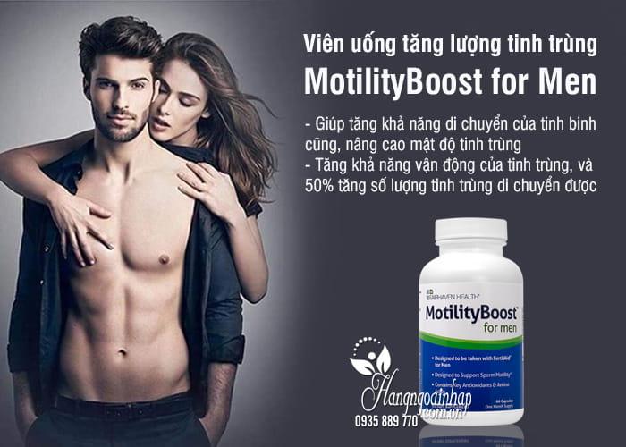 Viên uống tăng lượng tinh trùng MotilityBoost for Men của Mỹ 6