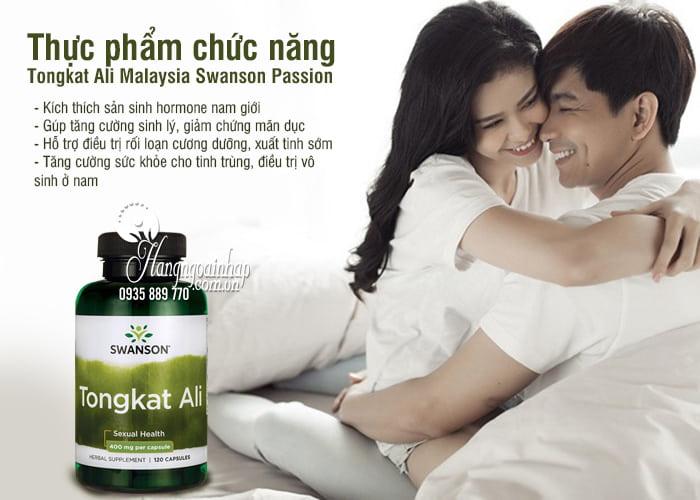 Tongkat Ali Malaysia Swanson Passion 400mg 120 viên của Mỹ 8