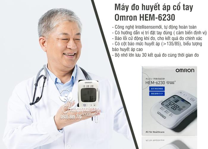 Máy đo huyết áp cổ tay Omron HEM-6230 của Nhật Bản 6