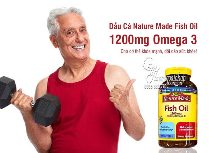 Nature Made Fish Oil 1200mg 360mg Omega 3 200 Viên 1