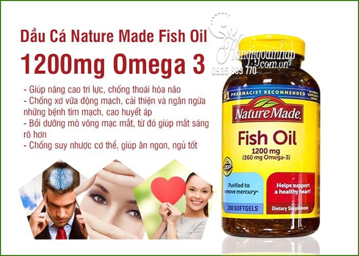 Nature Made Fish Oil 1200mg 360mg Omega 3 200 Viên 4