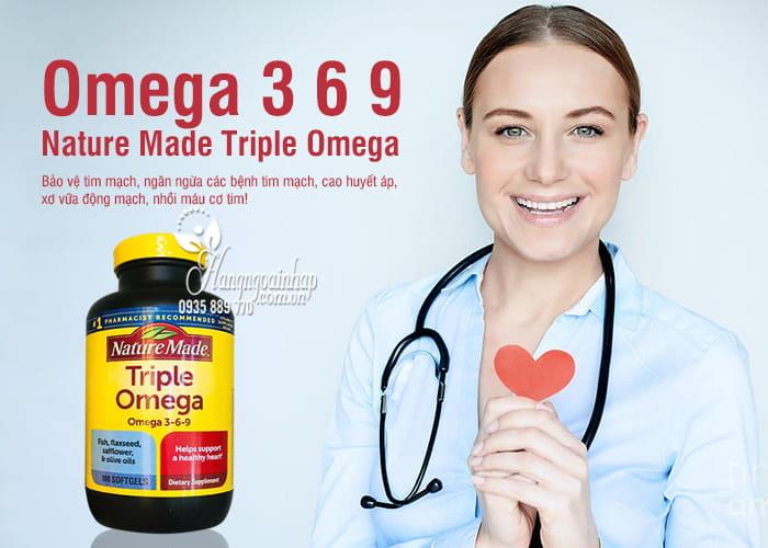 Omega 3 6 9 Nature Made Của Mỹ - Triple Omega Hộp 180 Viên 0