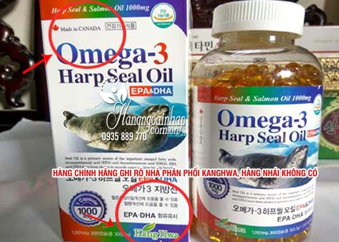 Omega 3 Harp Seal Oil 1000mg tinh dầu hải cẩu 300 viên 6