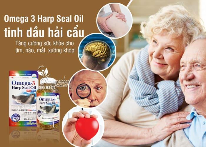 Omega 3 Harp Seal Oil 1000mg tinh dầu hải cẩu 300 viên 0