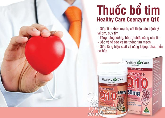 Thuốc bổ tim Healthy Care Coenzyme Q10 150mg Úc 100 viên 2