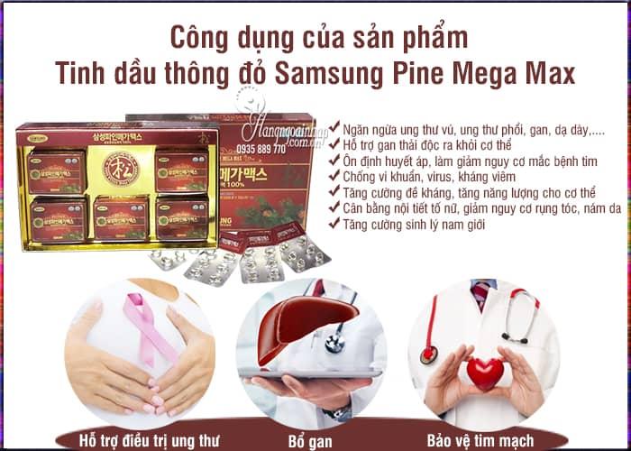 Tinh dầu thông đỏ Samsung Pine Mega Max chính hãng Hàn Quốc 2
