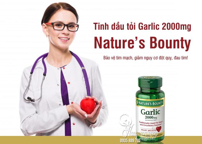 Tinh dầu tỏi Garlic 2000mg Nature's Bounty 120 viên của Mỹ 2