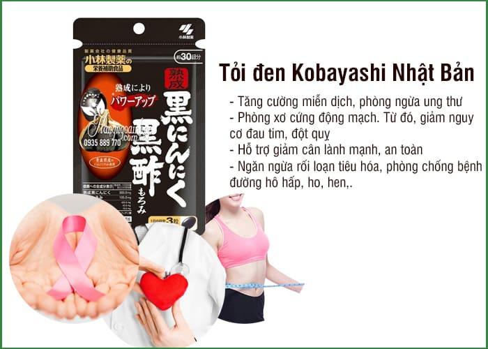 Tỏi đen Kobayashi 30 viên, tỏi đen Nhật Bản chính hãng 2