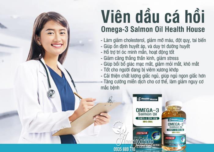 Viên dầu cá hồi Omega-3 Salmon Oil Health House Hàn Quốc 1