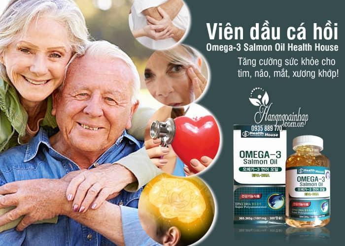 Viên dầu cá hồi Omega-3 Salmon Oil Health House Hàn Quốc 9