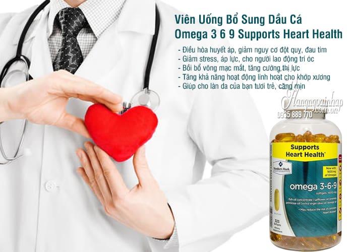 Viên Uống Bổ Sung Dầu Cá Omega 3 6 9 Supports Heart Health 1