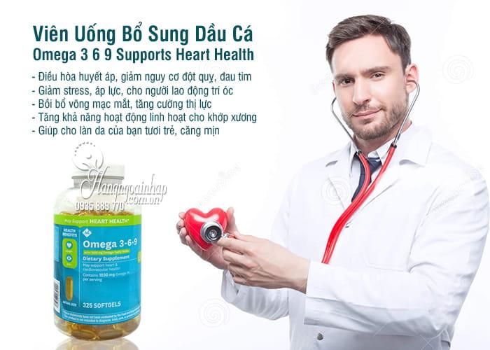Viên Uống Bổ Sung Dầu Cá Omega 3 6 9 Supports Heart Health 8