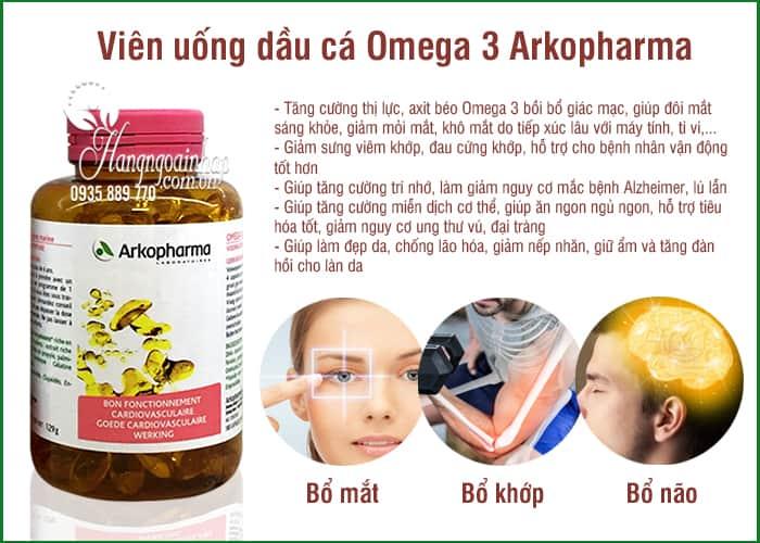 Viên uống dầu cá Omega 3 Arkopharma 180 viên chính hãng Pháp 3