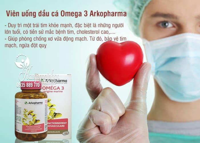 Viên uống dầu cá Omega 3 Arkopharma 180 viên chính hãng Pháp 6