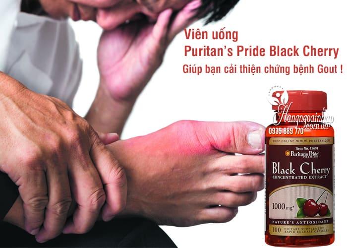 Viên uống Puritan's Pride Black Cherry 1000mg của Mỹ 100v 6