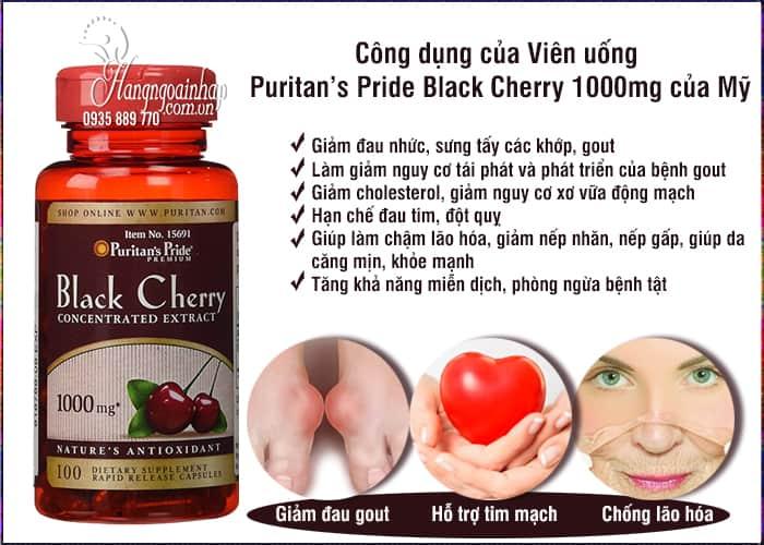 Viên uống Puritan's Pride Black Cherry 1000mg của Mỹ 100v 3