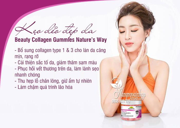 Kẹo dẻo đẹp da Beauty Collagen Gummies Nature's Way 40 viên 7
