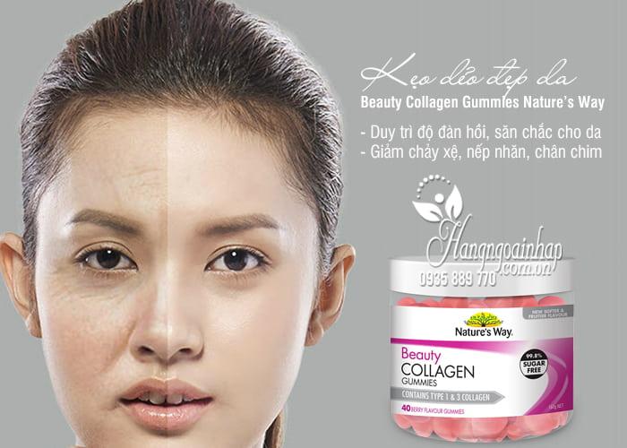 Kẹo dẻo đẹp da Beauty Collagen Gummies Nature's Way 40 viên 1