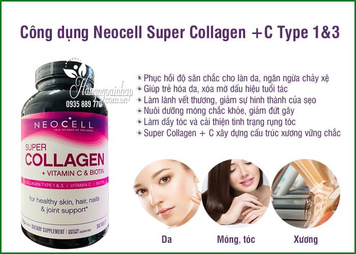 Neocell Super Collagen +C Type 1&3 360 Viên của Mỹ, giá tốt 6
