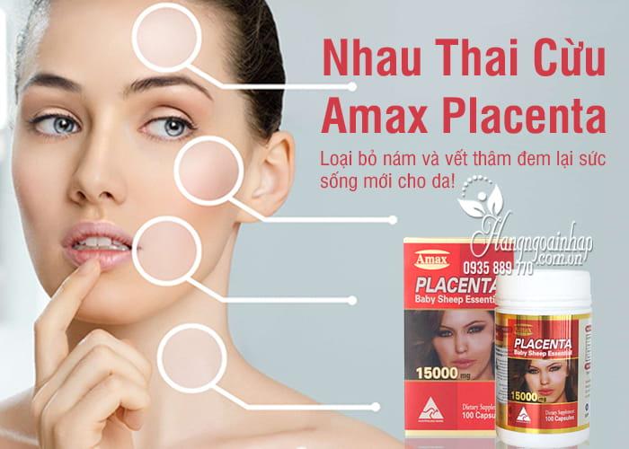 Nhau Thai Cừu Amax Placenta 15000mg Của Úc Hộp 100 Viên 6