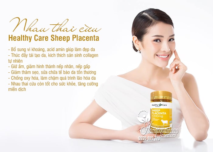 Nhau thai cừu Healthy Care Sheep Placenta 5000mg của Úc 2