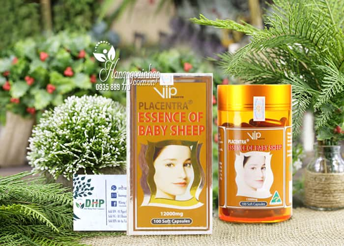 Nhau Thai Cừu Vip Placentra Essence Of Baby Sheep 12000mg 100 Viên 1