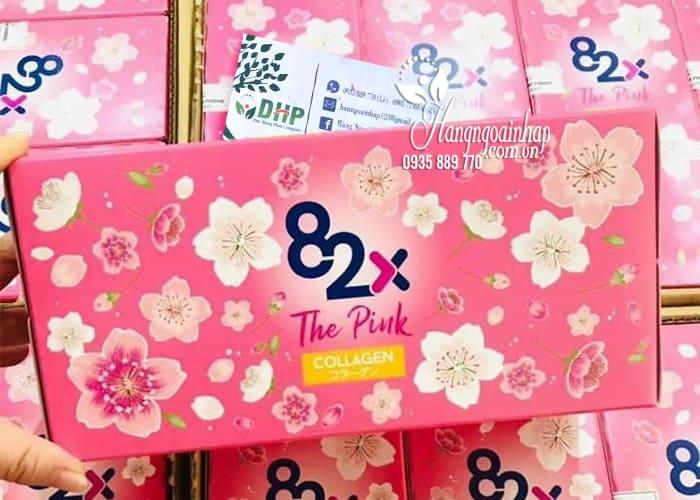 Nước uống 82x The Pink Collagen hộp 10 chai x 100ml Nhật 0