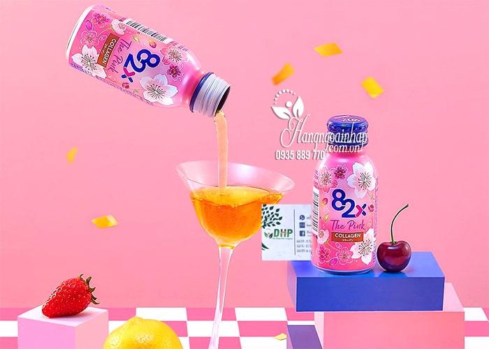 Nước uống 82x The Pink Collagen hộp 10 chai x 100ml Nhật 1
