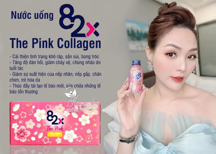 Nước uống 82x The Pink Collagen hộp 10 chai x 100ml Nhật 7