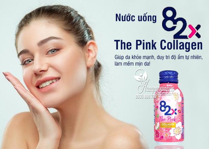 Nước uống 82x The Pink Collagen hộp 10 chai x 100ml Nhật 5