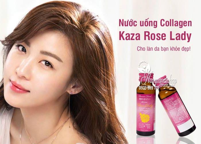 Nước uống Collagen Kaza Rose Lady 5000mg Nhật hộp 10 lọ 9