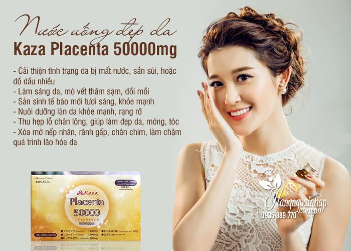 Nước uống đẹp da Kaza Placenta 50000mg 10 chai x 50ml 3