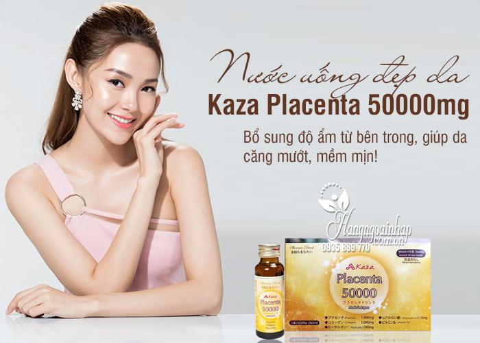 Nước uống đẹp da Kaza Placenta 50000mg 10 chai x 50ml 1