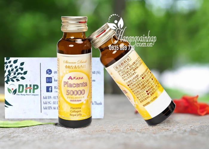 Nước uống đẹp da Kaza Placenta 50000mg 10 chai x 50ml 7