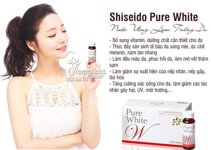 Nước uống shiseido pure white trắng da chính hãng Nhật Bản 7