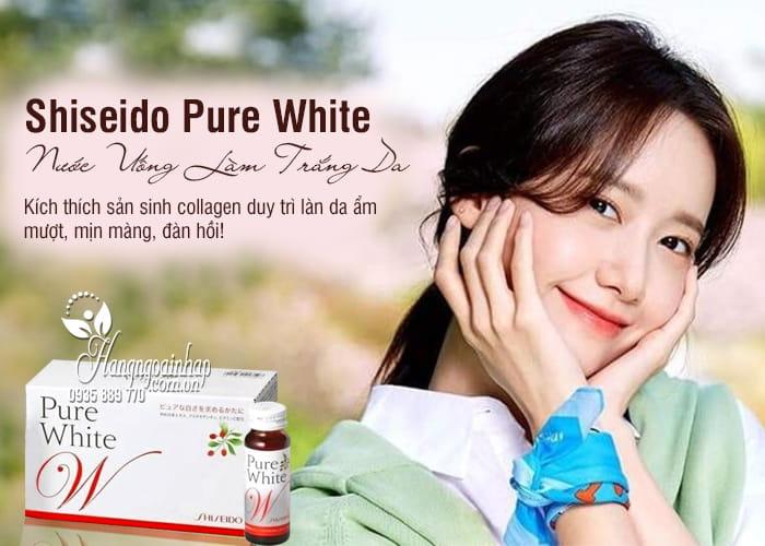 Nước uống shiseido pure white trắng da chính hãng Nhật Bản 1