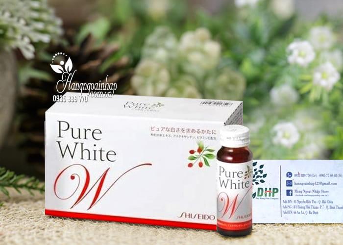 Nước uống shiseido pure white trắng da chính hãng Nhật Bản 8