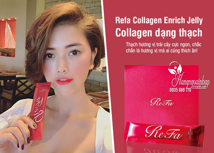 Refa Collagen Enrich Jelly - Collagen dạng thạch của Nhật 6
