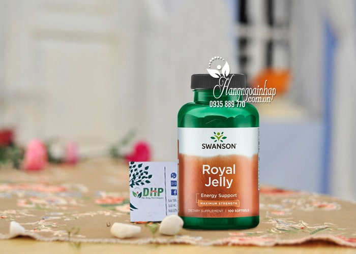 Sữa ong chúa Swanson Royal Jelly Energy Support của Mỹ 5