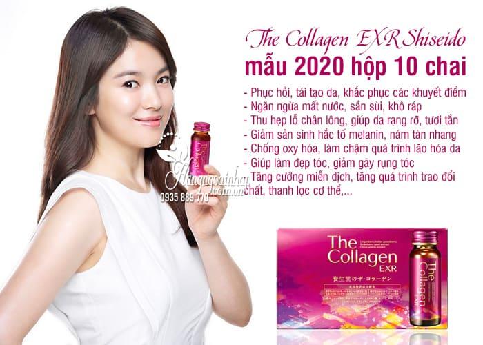 The Collagen EXR Shiseido Nhật Bản mẫu 2020 hộp 10 chai  2