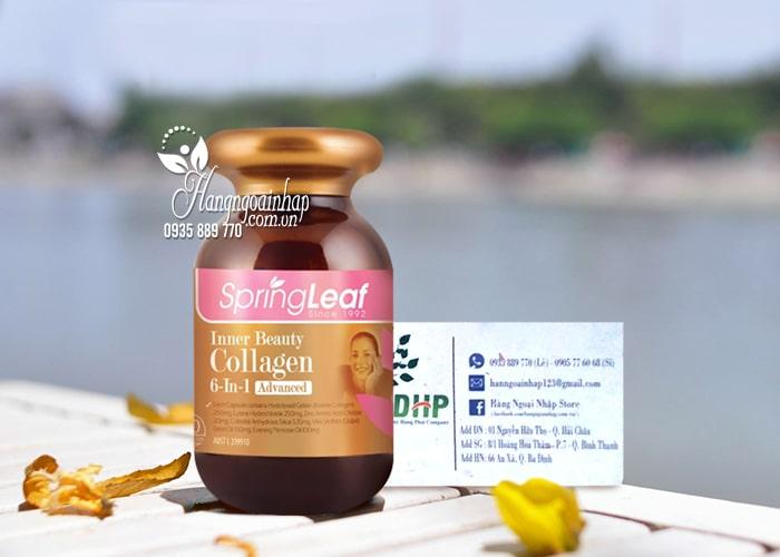 Viên uống Collagen 6 in 1 Spring Leaf Inner Beauty của Úc 9