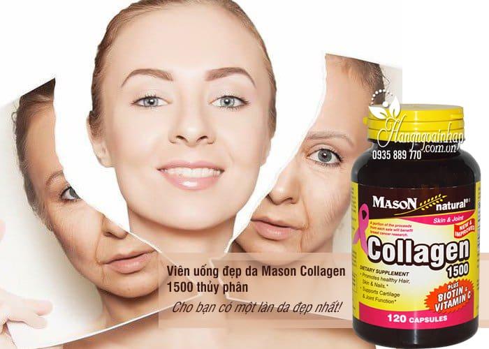 Viên uống đẹp da Mason Collagen 1500 thủy phân 120 viên 1