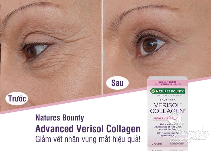 Viên uống đẹp da Natures Bounty Advanced Verisol Collagen 270 5