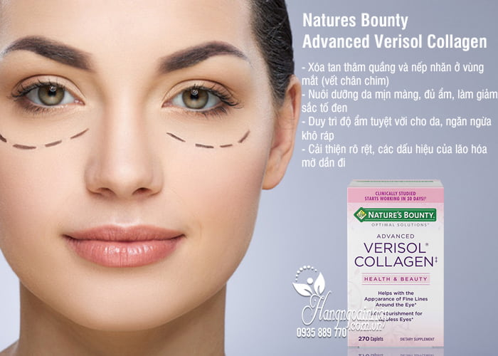 Viên uống đẹp da Natures Bounty Advanced Verisol Collagen 270 2