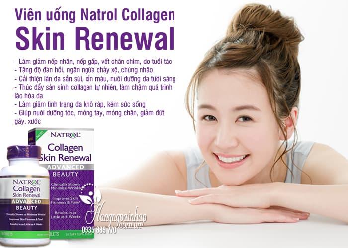 Viên uống Natrol Collagen Skin Renewal 120 viên chống lão hóa 2