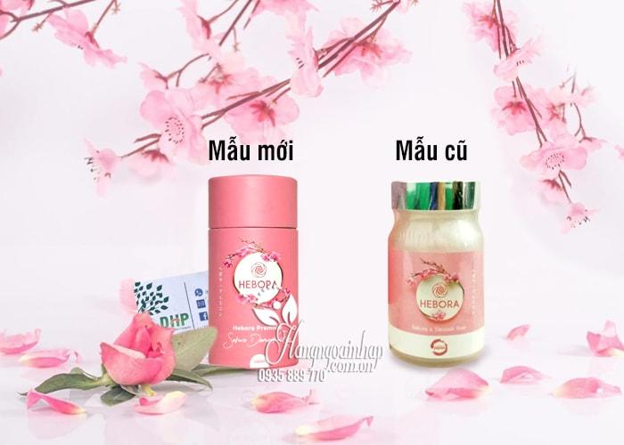 Viên uống thơm cơ thể Hebora Sakura Damask Rose Nhật 60 viên 2